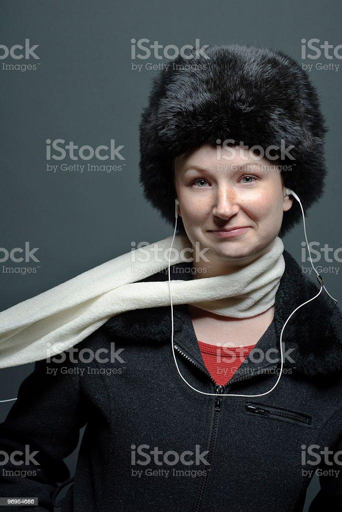 Woman wearing winter clothing royalty-free stock photo