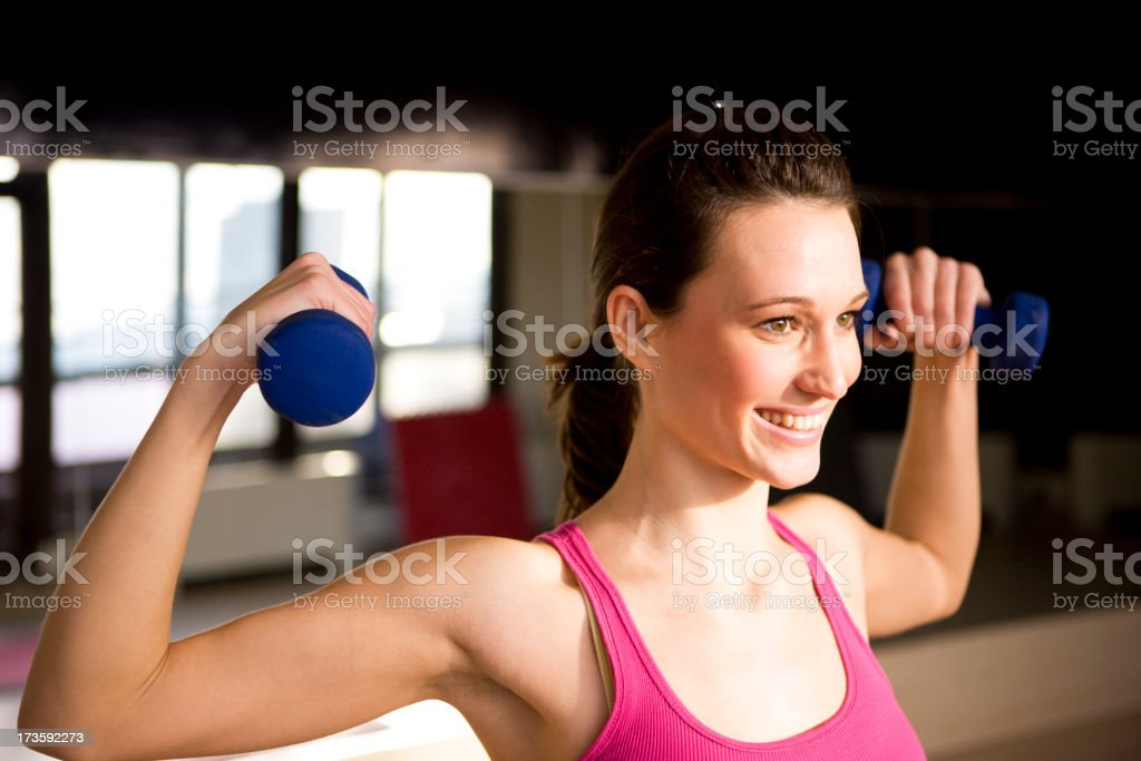 Woman Weight Training royalty-free stock photo