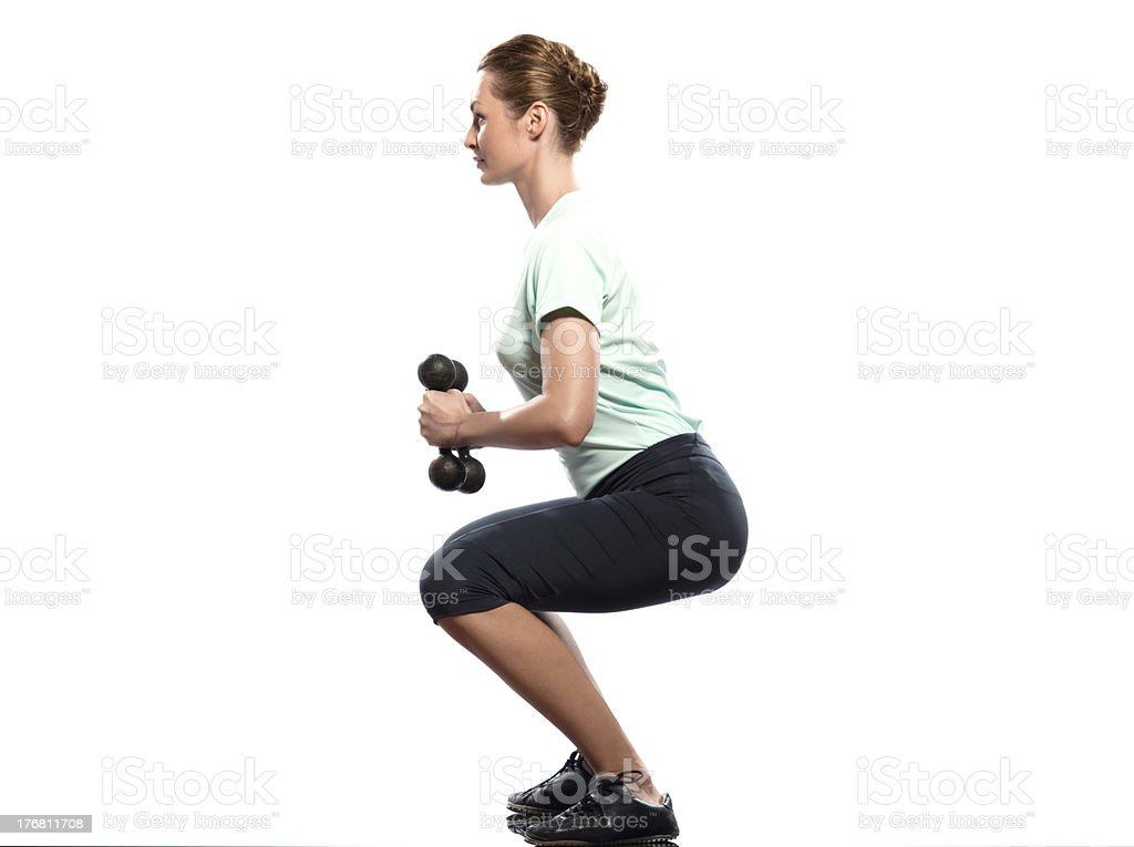 woman   weight Training Workout Posture exercices royalty-free stock photo
