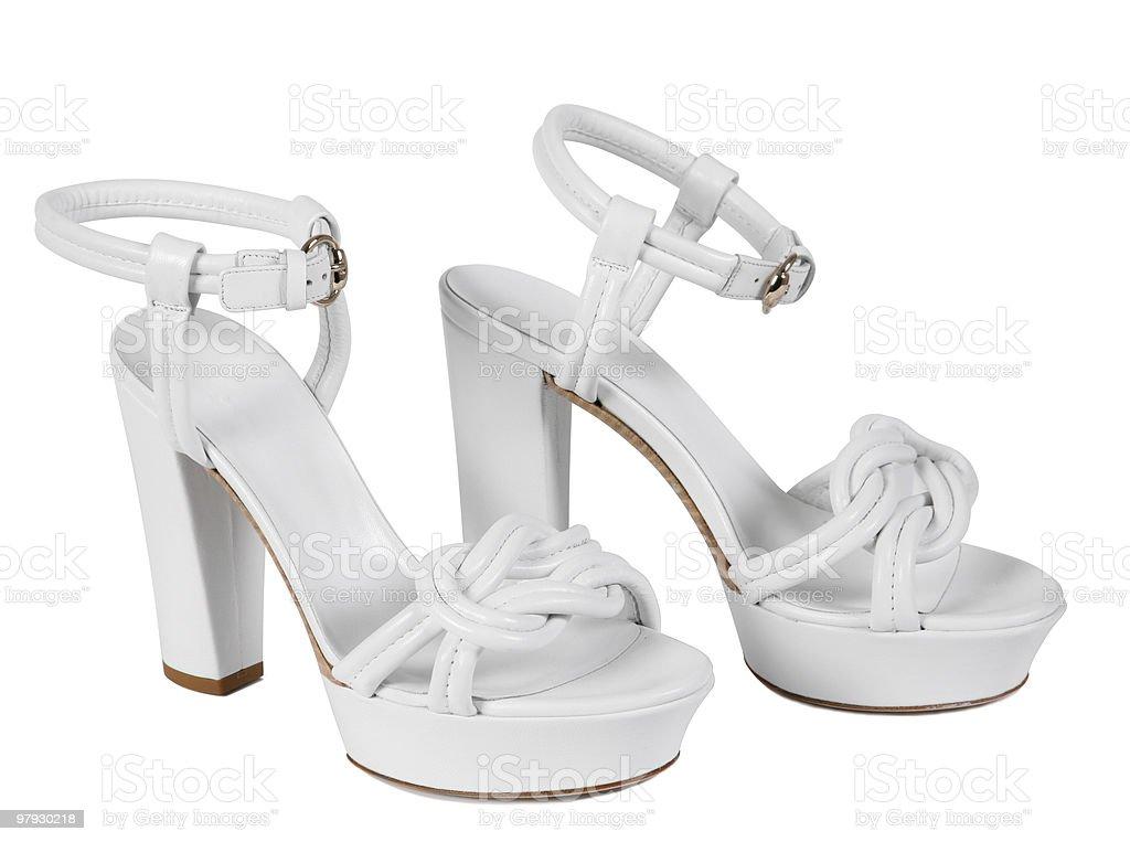 Woman white shoes royalty-free stock photo