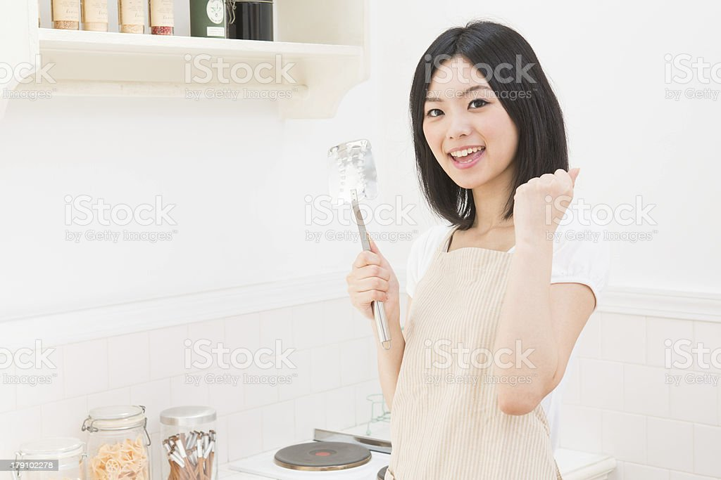 woman who cooks royalty-free stock photo