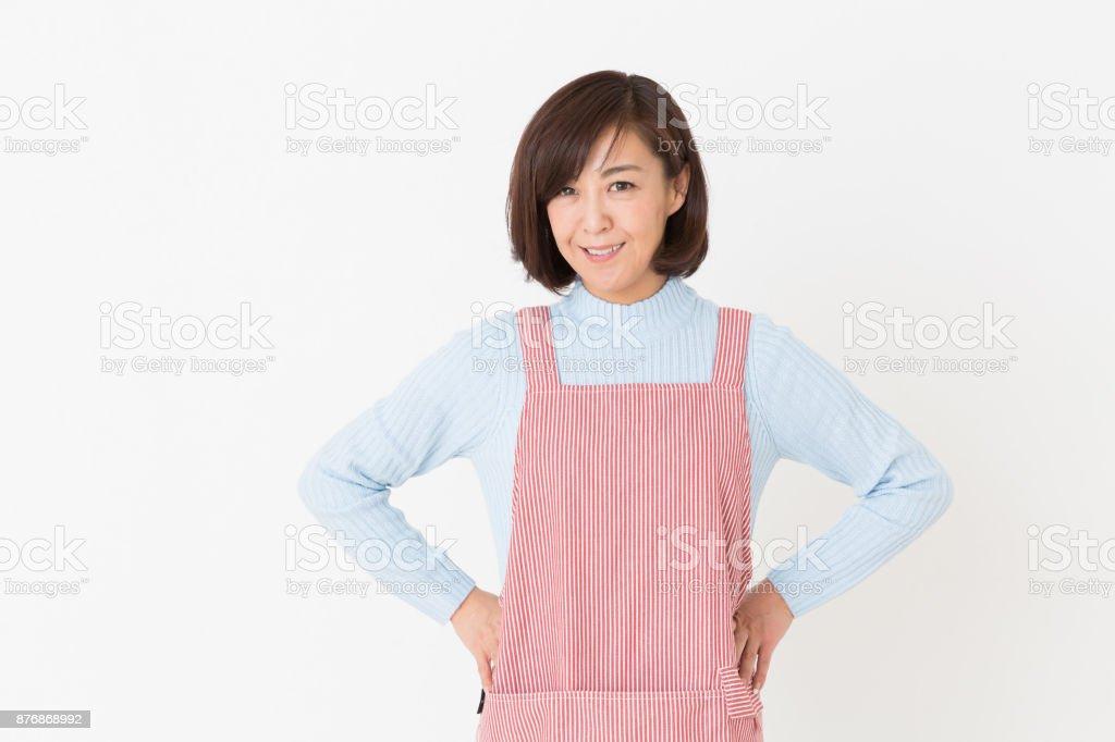 Femme qui cuit - Photo
