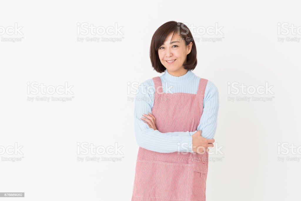 woman who cooks stock photo