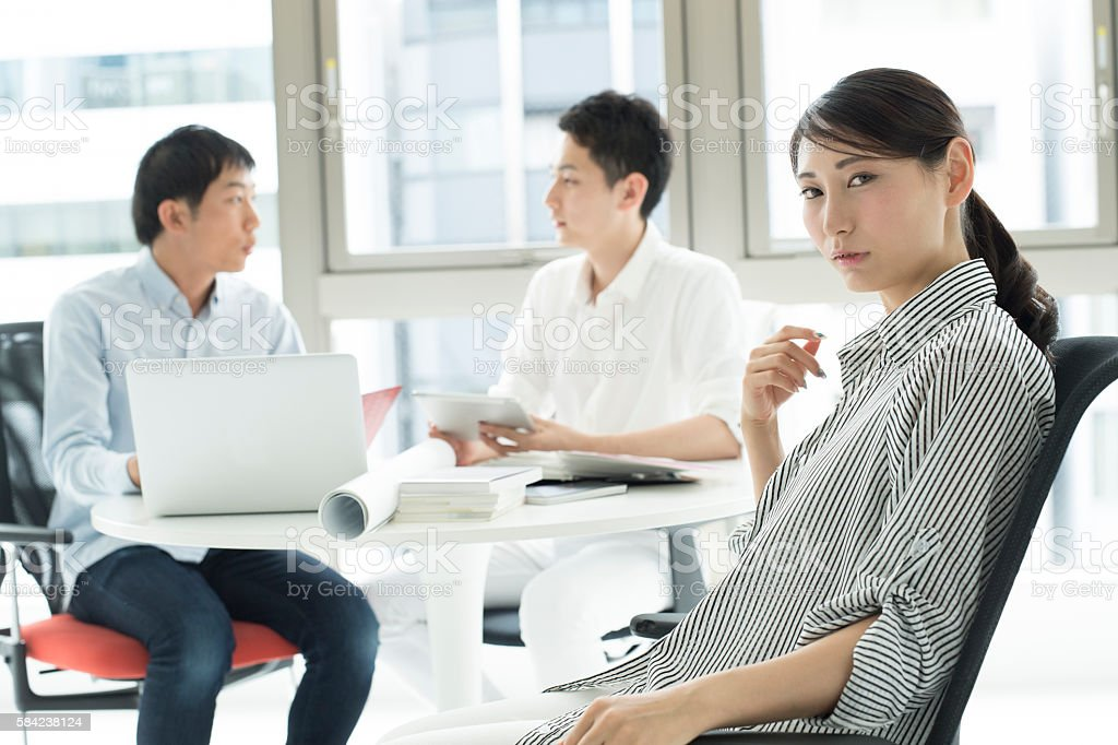 Woman who had the ambition. stock photo