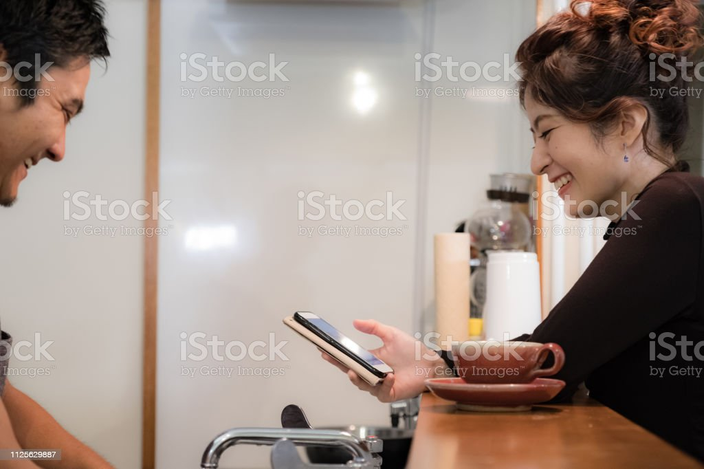 A woman who hands chocolate for Valentine. stock photo