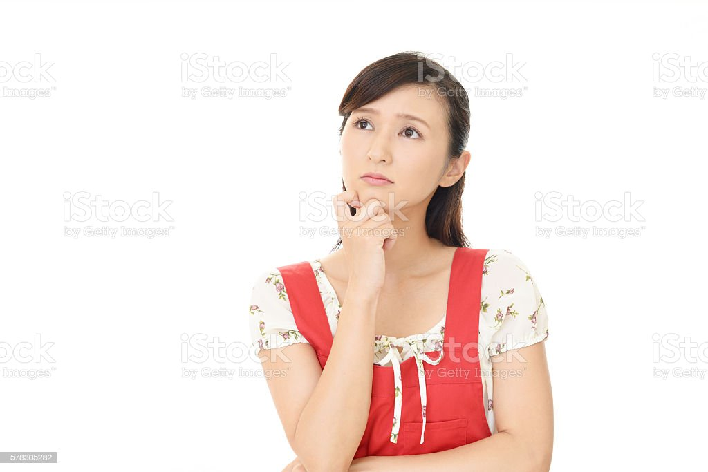 Woman who is worried - Photo