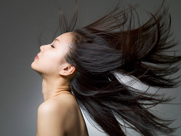 下の女性の顔 - 女性 横顔 日本人 ストックフォトと画像