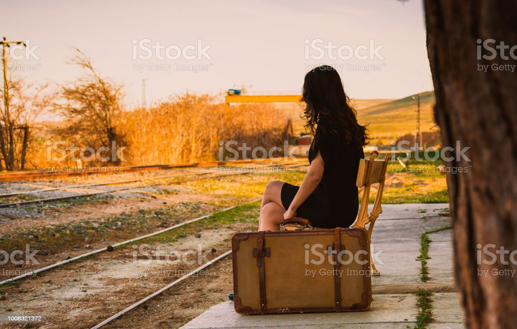 woman who travels stock photo