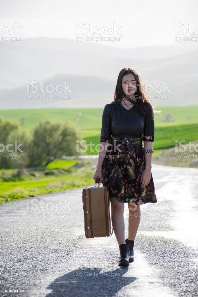 Frau, reist – Foto