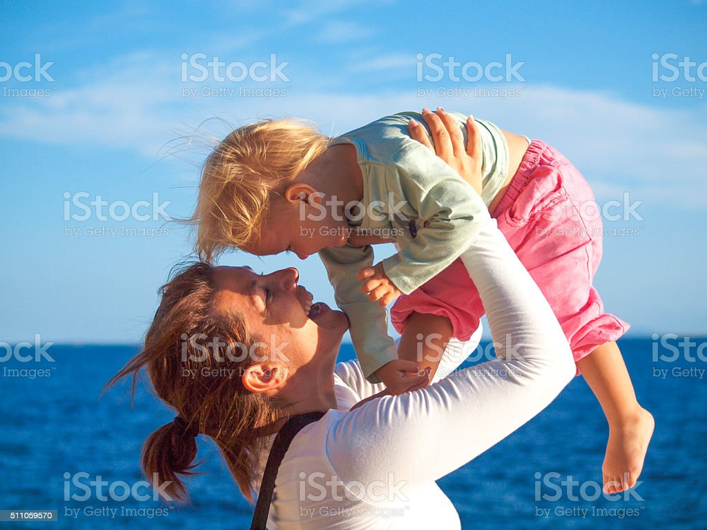 Woman with a baby stock photo