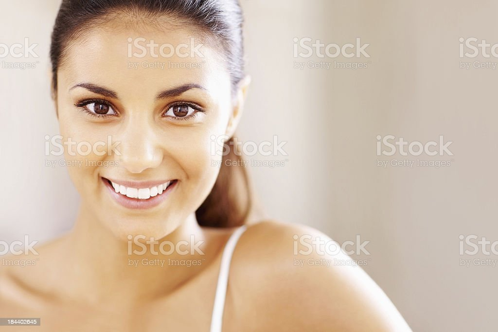 Woman with a beautiful smile royalty-free stock photo