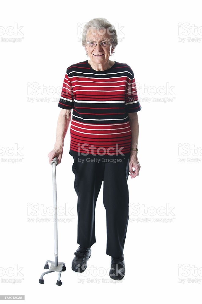 Woman with a Cane stock photo