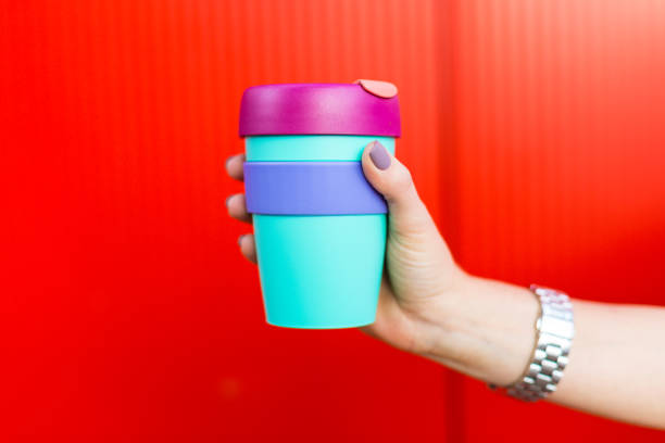 Woman with a coffee mug stock photo