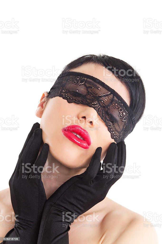 courir chaussures Clairance de 60% acheter de nouveaux Photo libre de droit de Femme Avec Un Bandeau Pour Les Yeux ...