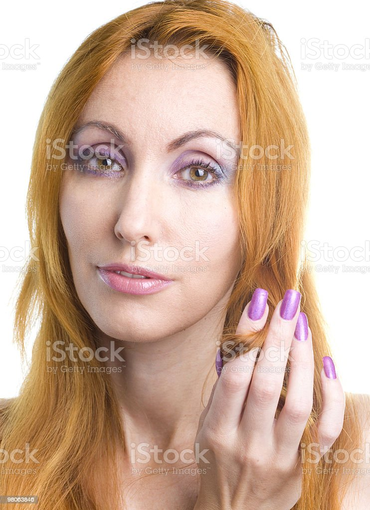 woman with a make-up royalty-free stock photo