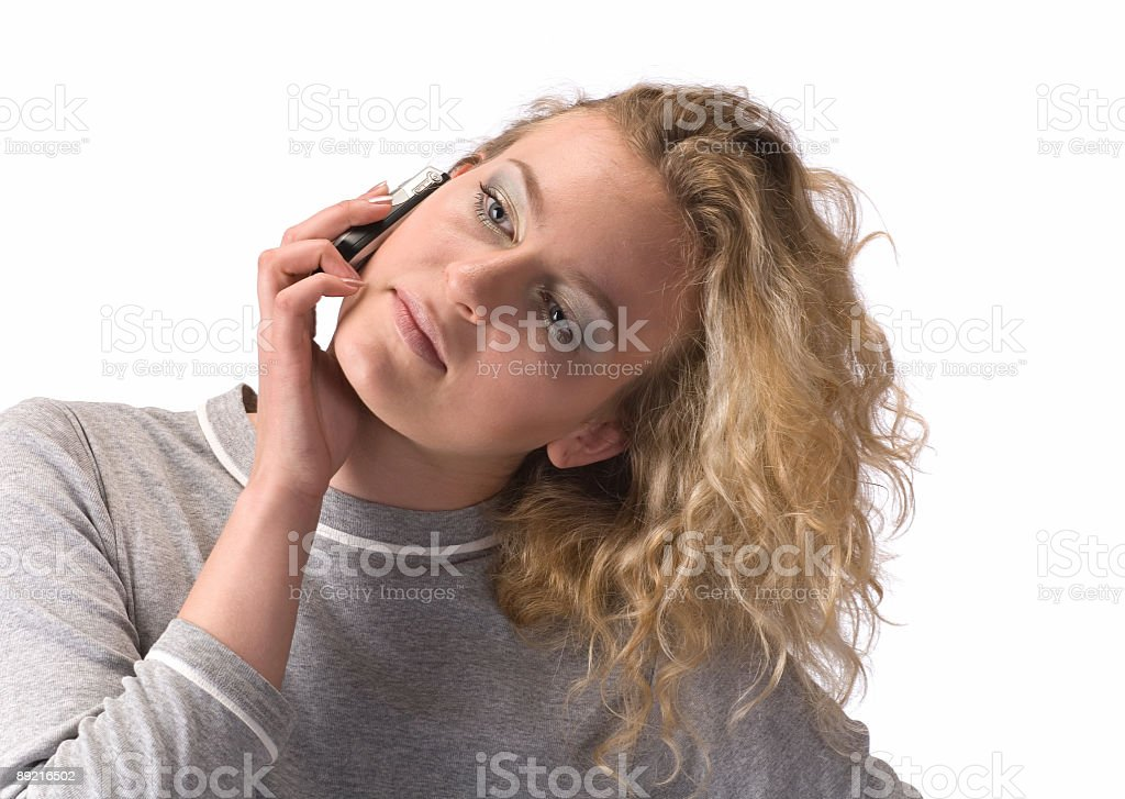 woman with a mobile phone royalty-free stock photo