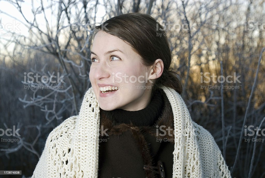 Woman with a smile royalty-free stock photo