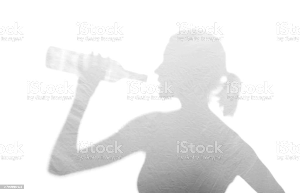 woman with alcohol stock photo