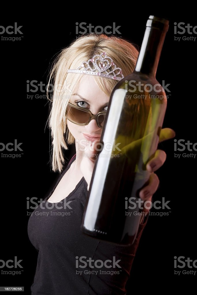 Woman with alcohol problems royalty-free stock photo