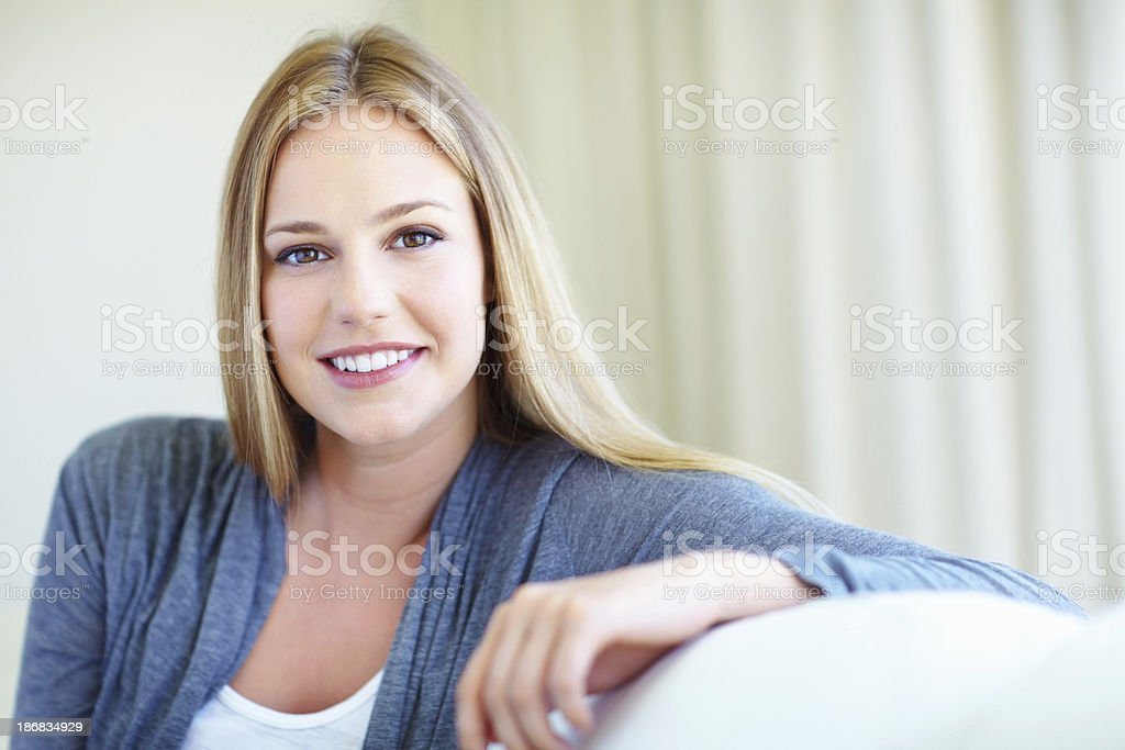 Woman with an attractive smile royalty-free stock photo