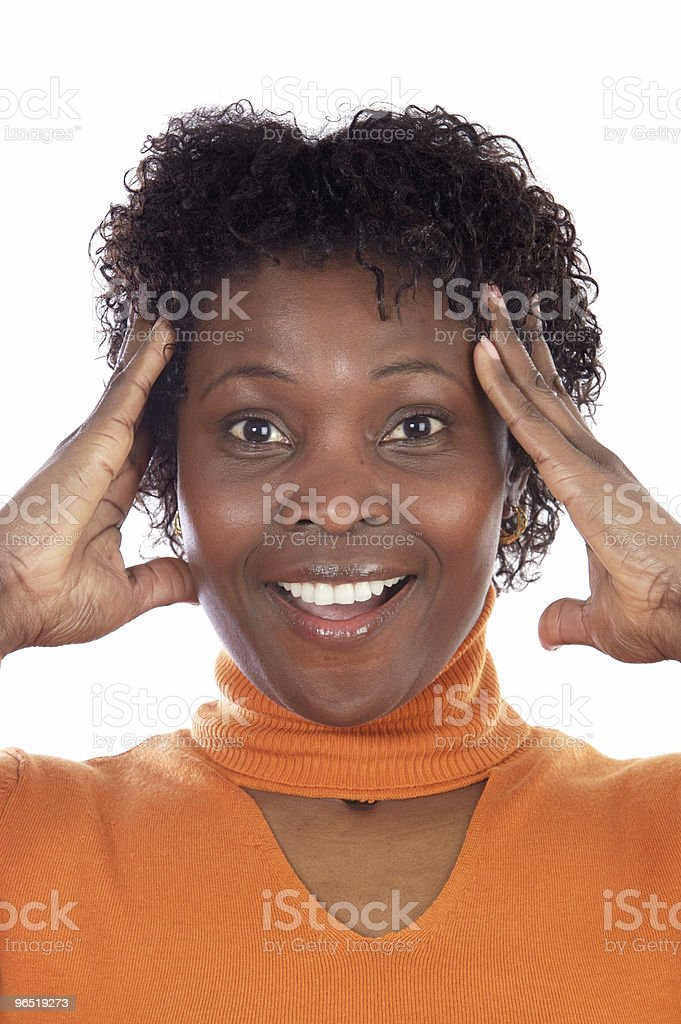 Woman with an expression royalty-free stock photo