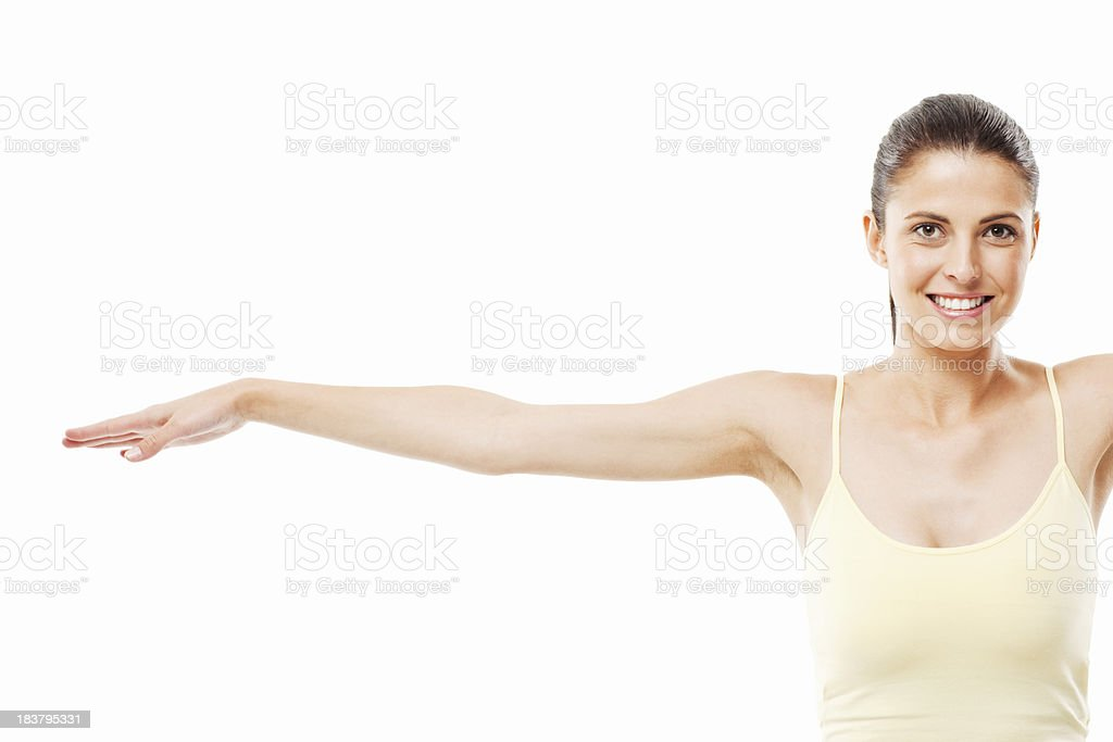 Woman With an Outstretched Arm royalty-free stock photo