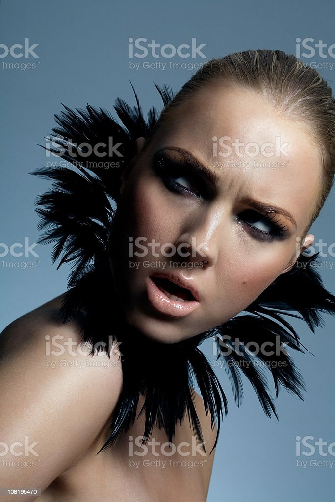 Woman with Angry look on face royalty-free stock photo