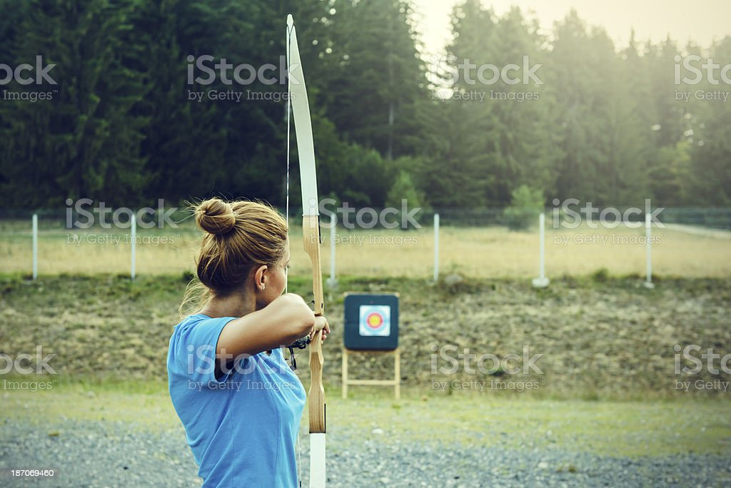woman with archery stock photo