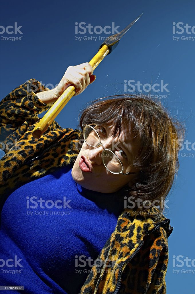 woman with axe royalty-free stock photo