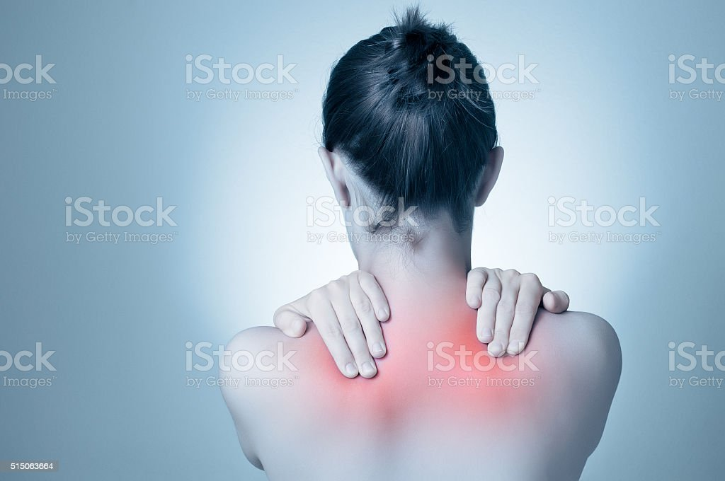 Frau mit Rücken- – Foto