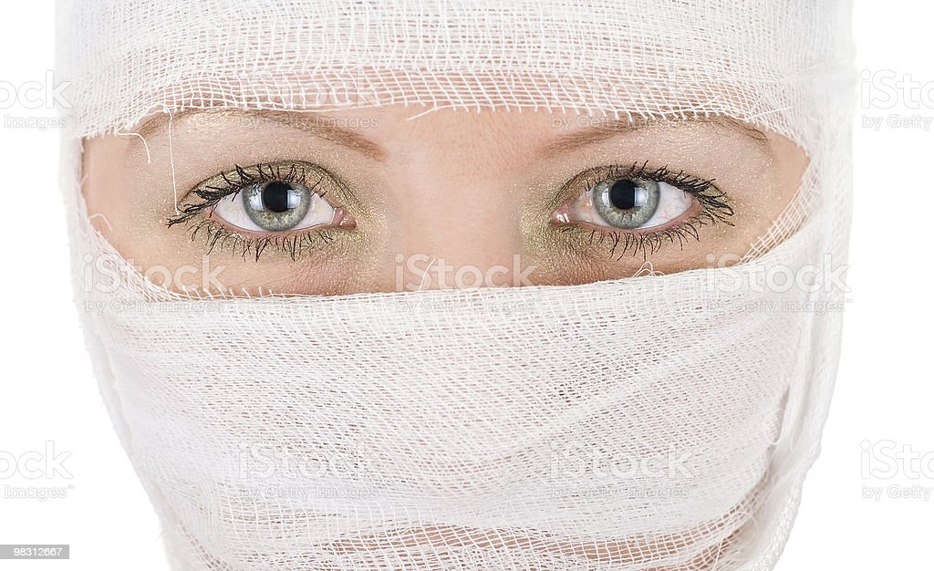 woman with bandages royalty-free stock photo