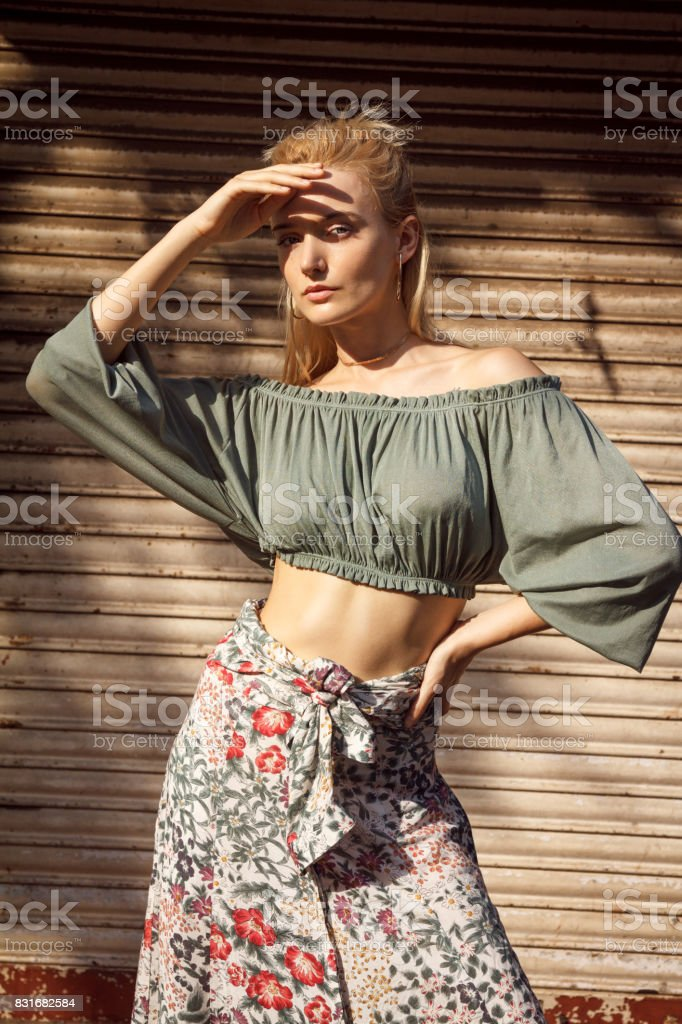 Woman with beautiful accessories stock photo