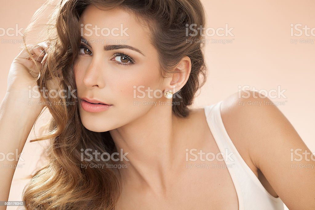 Woman With Beautiful Hair stock photo