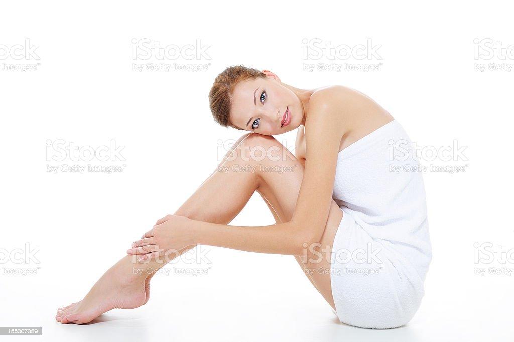 Frau mit schönen Beinen - Lizenzfrei Entspannung Stock-Foto