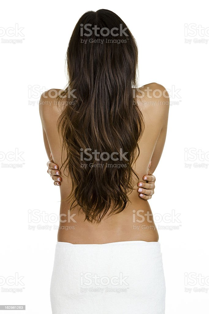 Woman with beautiful long hair royalty-free stock photo