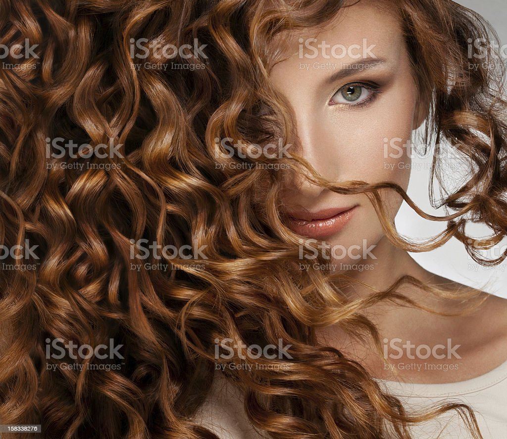 Woman with Beautifull Hair stock photo