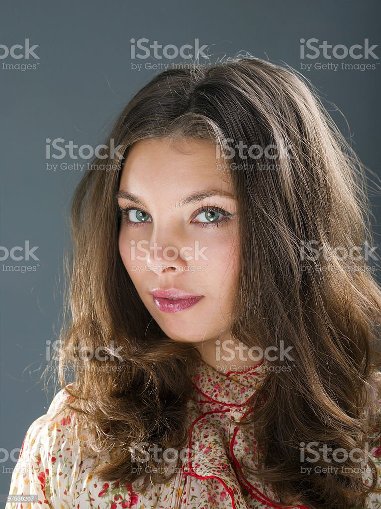 Woman with beauty hairs royalty-free stock photo