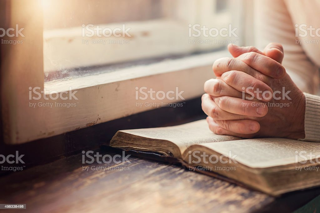 Woman with Bible royalty-free stock photo