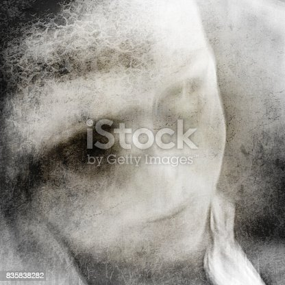 istock Woman with big eyes. 835838282