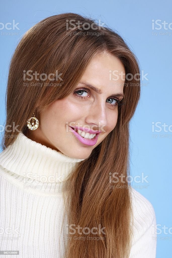 woman with big smile royalty-free stock photo