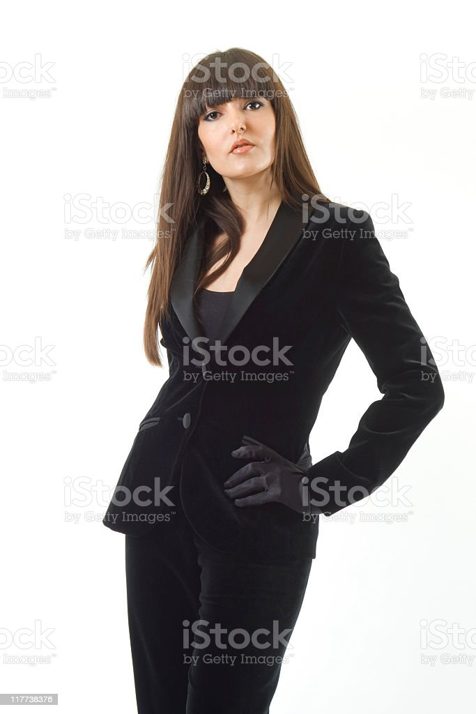 woman with black dress. royalty-free stock photo