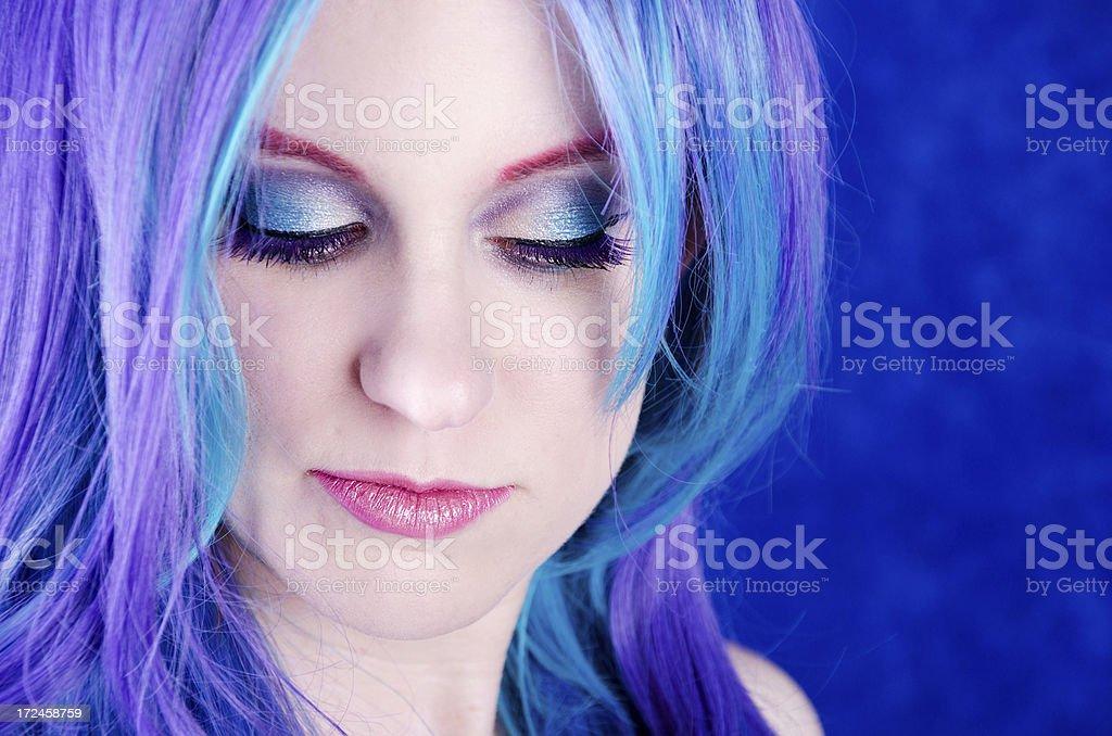 Lila haare blau Blau, lila,