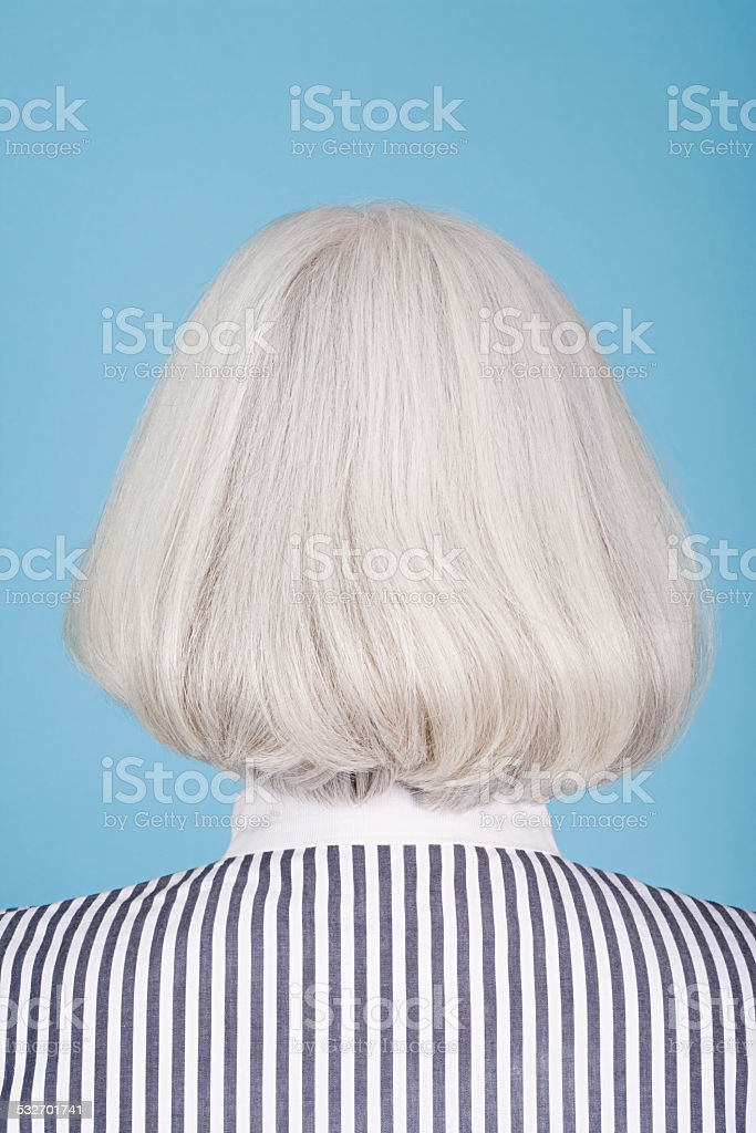 Woman with bob hairstyle stock photo