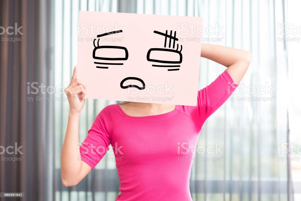woman with body odor stock photo