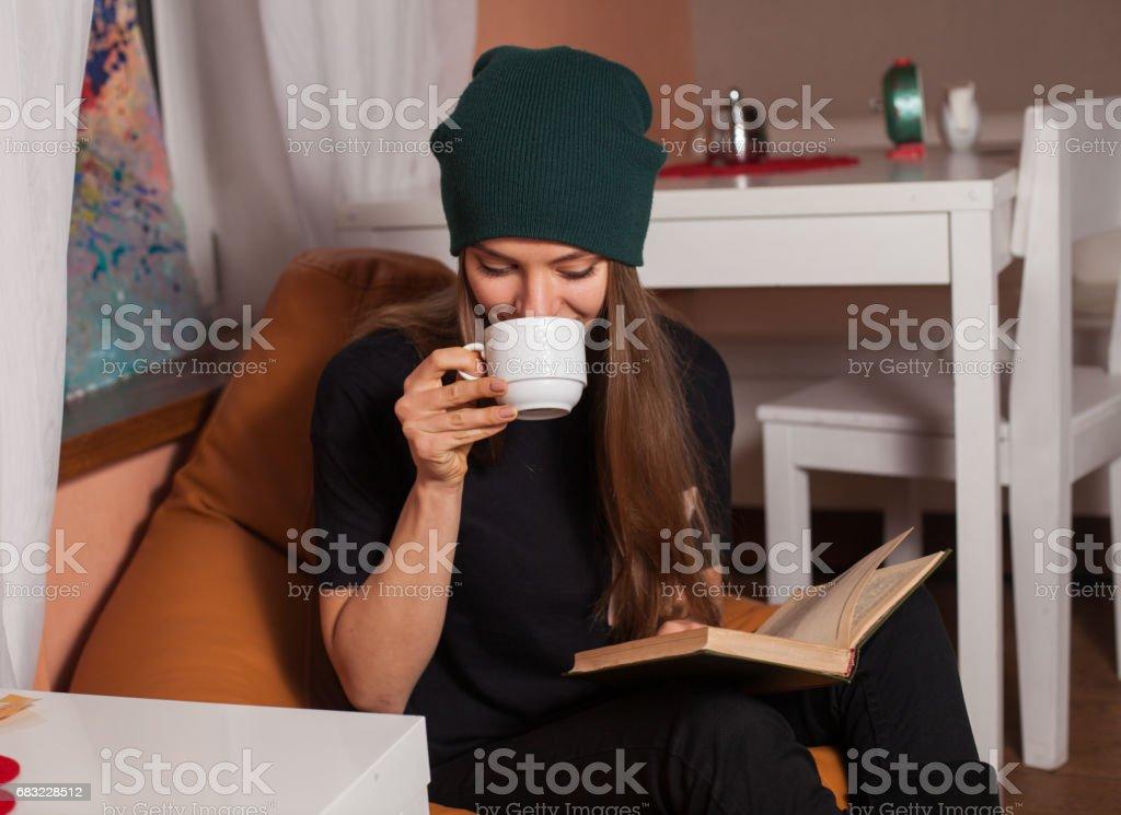 Woman with book Lizenzfreies stock-foto