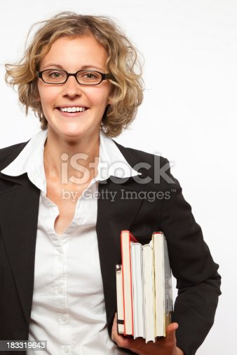 istock Woman with books 183319643