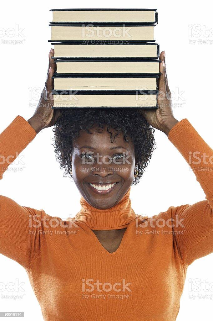 Kobieta z książek zbiór zdjęć royalty-free
