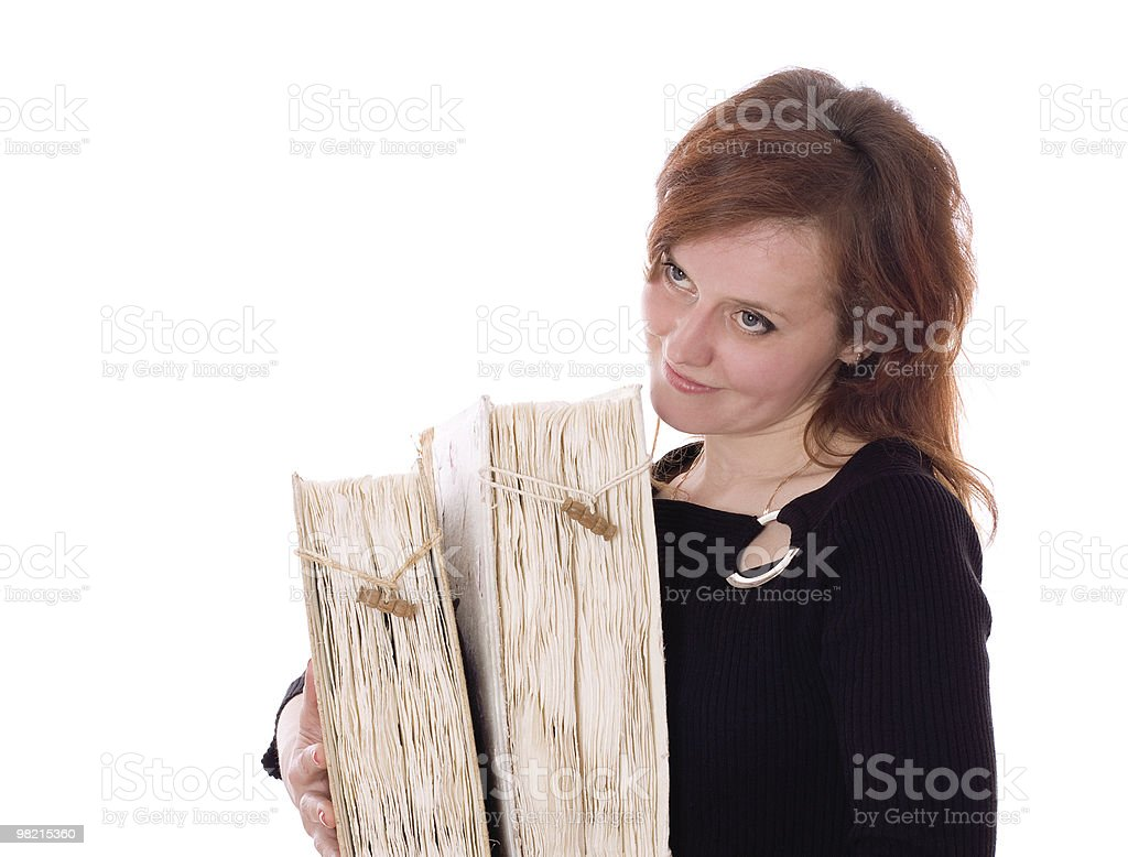 Woman with Books royalty-free stock photo