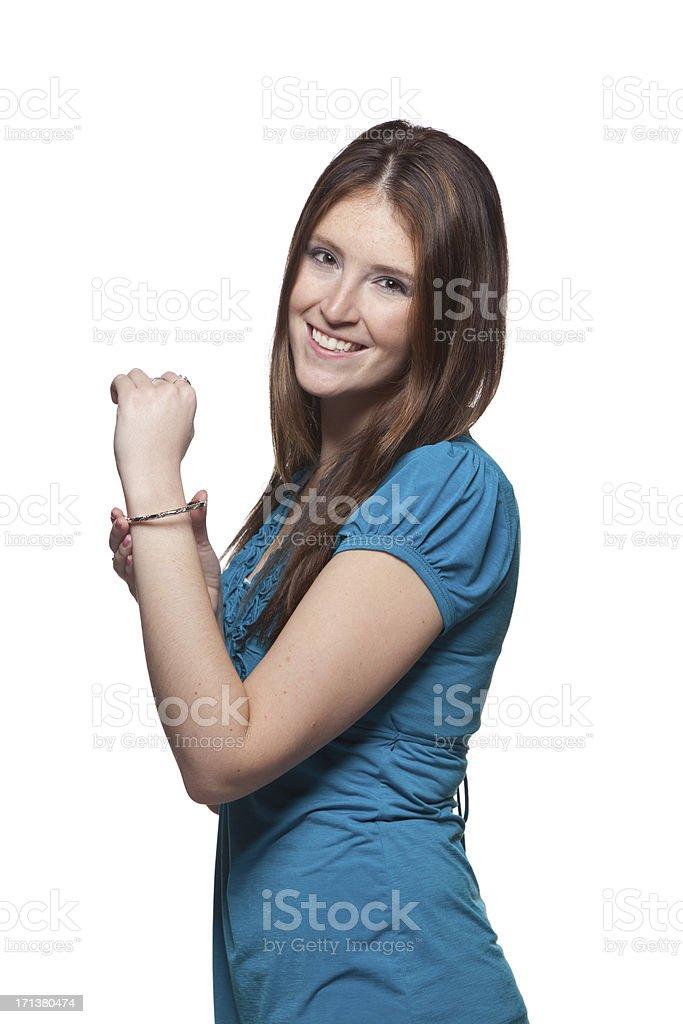 Woman With Bracelet stock photo