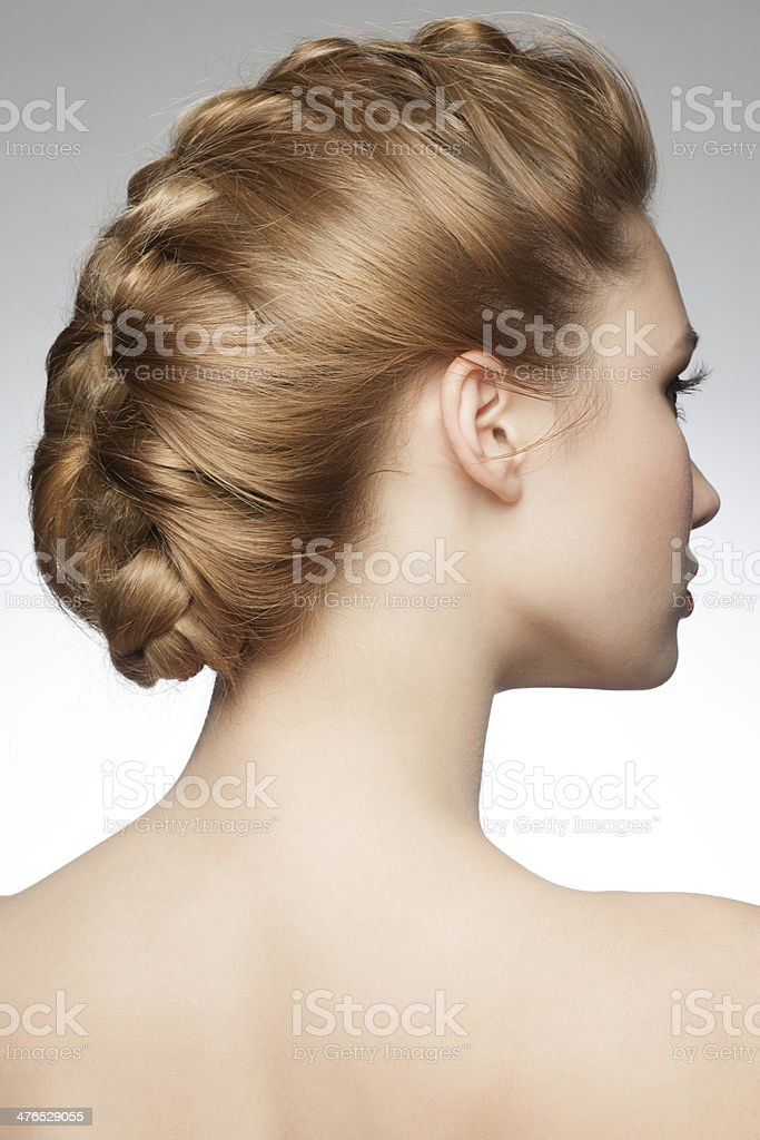 Awe Inspiring Woman With Braid Hairdo Stock Photo More Pictures Of Adult Istock Natural Hairstyles Runnerswayorg